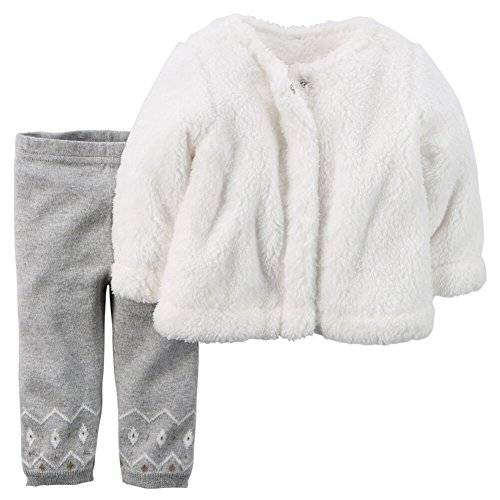 carters-baby-girls-2-piece-sherpa-top-sweater-knit-pant-set-ivory-6m