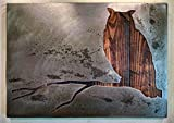 Owl on a Branch - Wall Art - Metal Art - Reclaimed Wood and Aged Steel - Two Sizes Available - by Legendary Fine Art