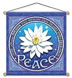 15'' X 15'' Lotus of Peace Mandala Meditation Banner