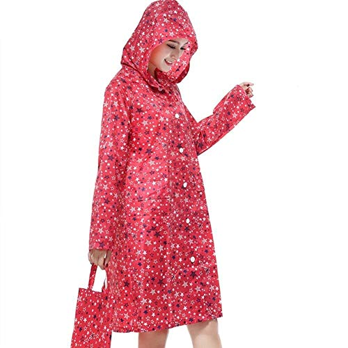 2 Raincoat Female Sunscreen Colors Waterproof Fashion Pengfei Ragazza Coat Rot Chic Hx Drifting Tourism Poncho Printing Rainwear qtOFwxEP