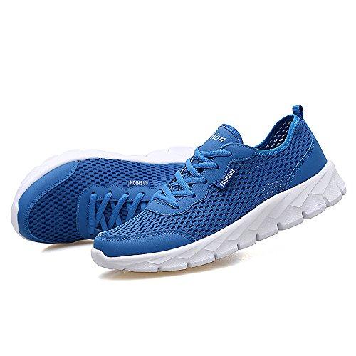 YIRUIYA Männer Ultra Lightweight Jogging Laufschuh Blau