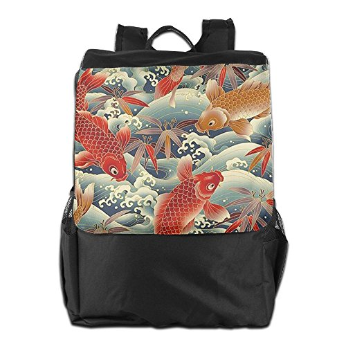Dayback School Colorful Fish Backpack Travel and Storage Women Strap for HSVCUY Camping Men Shoulder Personalized Outdoors Adjustable qXxg7C