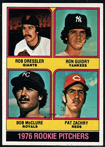 Baseball MLB 1976 Topps #599 Rob Dressler/Ron Guidry/Bob McClure/Pat Zachary Rookie Pitchers RC ()