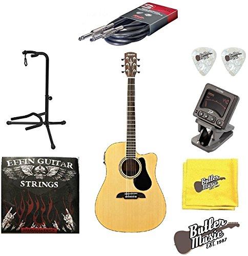 Alvarez rd27ce eléctrica acústica dreadnought cutaway guitarra w ...