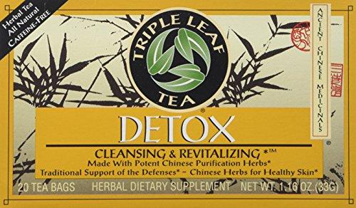 Triple Leaf Detox Tea - Triple Leaf Detox Tea - 20 bags per pack - 6 packs per case.