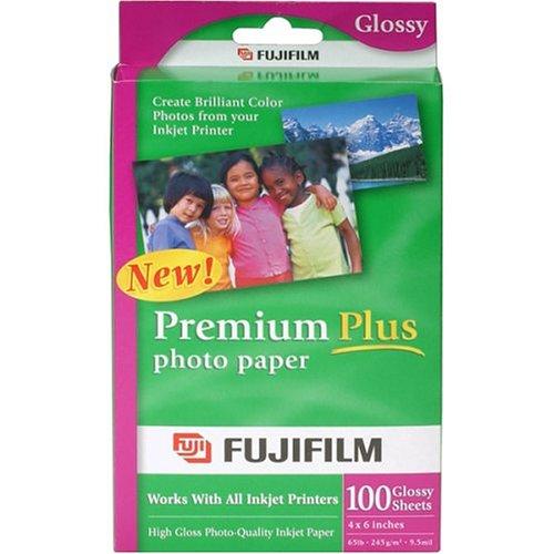 FujiFilm Inkjet Premium Plus Paper Glossy 4 x 6 (100)