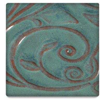 AMACO Opalescent Glaze, Turquoise O-26, 1 Pint (Amaco Red Glaze)
