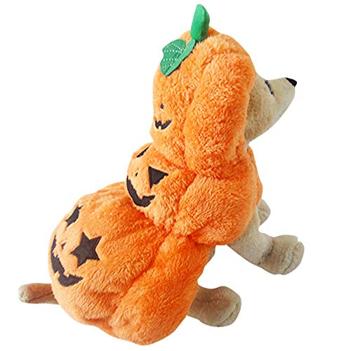 Albabara Pet Dog Cat Clothes Fluffy Pumpkin Halloween Party Fancy Costume Jacket Apparel for Small, Medium -