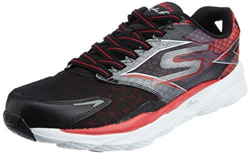 Skechers Performance Men's Go Run Ride 4 Running Shoe, Black/Red, 7 M US