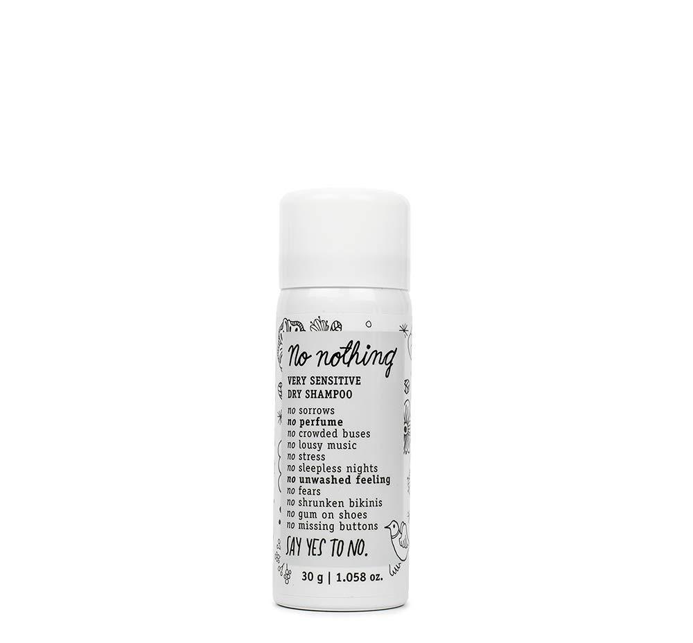 No nothing Very Sensitive Dry Shampoo - Fragrance Free Dry Shampoo, 100% Vegan, Hypoallergenic, Unscented, Gluten Free, Soy Free, 1.058 OZ
