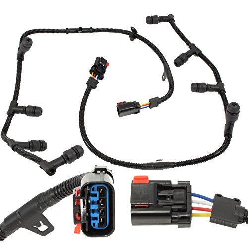 - APDTY 112728 Glow Plug Wire Wiring Pigtial Connector Harness Left & Right Set Fits 6.0L Powerstroke Diesel 2004-2010 Ford F250 F350 F450 F550 E250 E350 E450 Econoline Excursion or International Trucks
