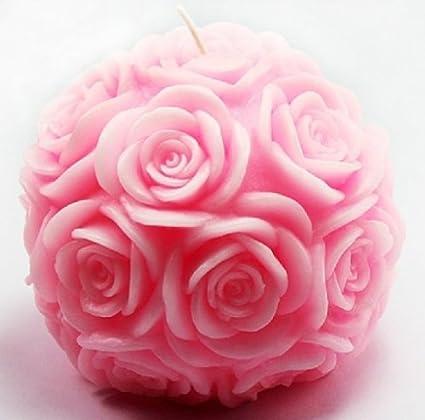 Bola de Rose vela Wholeport molde de silicona molde molde para hacer velas vela