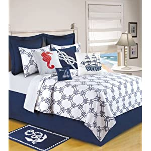51ZK7%2BYN%2BRL._SS300_ Coastal Bedding Sets & Beach Bedding Sets