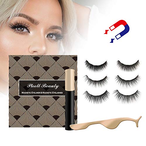 Magnetic Eyeliner and Eyelash Kit | Natural Look | Waterproof and Smudge Resistant | No Glue | Easier To Use Than Traditional Magnetic Eyelashes