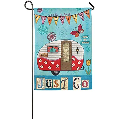 Brownnrio Garden Flag - Custom Life Is An Adventure Enjoy Ti