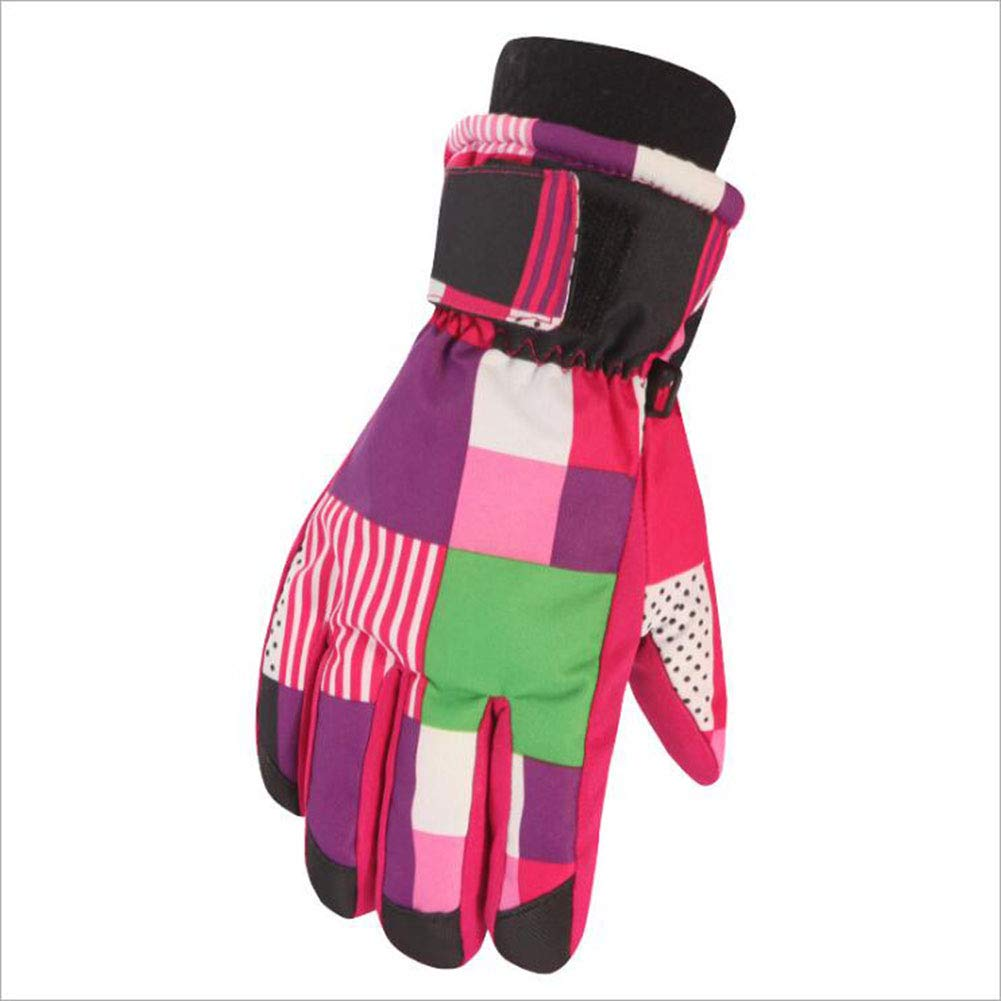 Warm Gloves (Buy One Get One Free). Children's Ski Gloves Warm Waterproof Thick Cartoon Boys and Girls Full Finger Gloves, Blue TCsinum