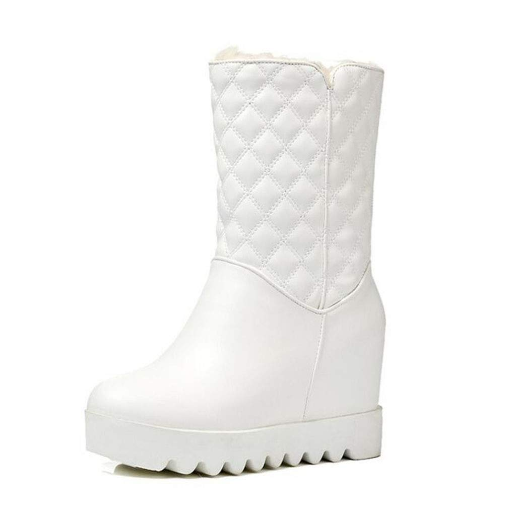 Hy Frauen Schneeschuhe Stiefel Winter Künstliche PU Stiefelies/Damen Warm Winddicht Slip-Ons Ankle Stiefel/Große Größe Winterstiefel (Farbe : C, Größe : 35)