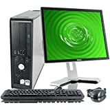 "Dell Optiplex Desktop Computer, Intel C2D 2.66Ghz, New 2GB, 160GB, WiFi, DVD/CD-RW Optical Drive, Microsoft Windows 7 Pro with New USB Keyboard & Mouse & 17"" Monitor (models vary)"