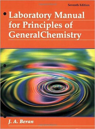 Laboratory Manual For Principles Of General Chemistry Jo
