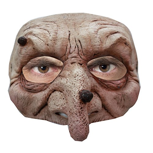 Ghoulish Productions Wart Wizard Latex Half Mask -