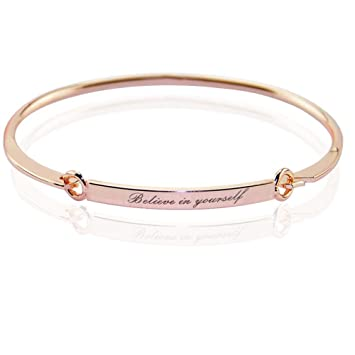 girls girl charm gold stainless color bracelet steel bangles dangle bangle product torque with little for fashion