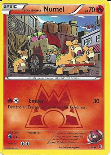 Numel Common Card - Pokemon - Team Magma's Numel (1/34) - Double Crisis