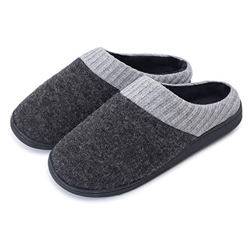 chollos oferta descuentos barato LK LEKUNI Zapatillas de Casa Mujer y Hombre de Estar Zapatos Antideslizantes Ultraligero Cómodo y Calentitas Antideslizante Pantuflas Negro01 42 43