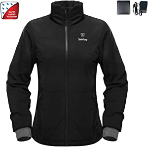 Smarkey 7.4v Women's Heated Jacket Winter Outdoor Coat With Battery and Charger (M, 1pcs 4400mAh Battery)