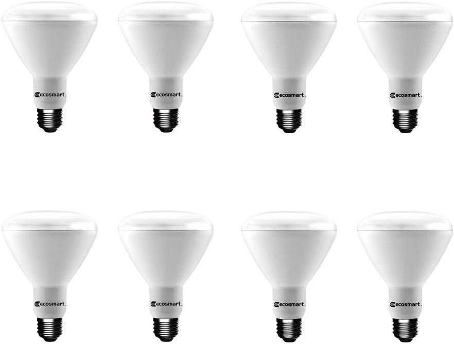 EcoSmart 75-Watt Equivalent BR30 Dimmable LED Light Bulb Daylight (8-Pack)