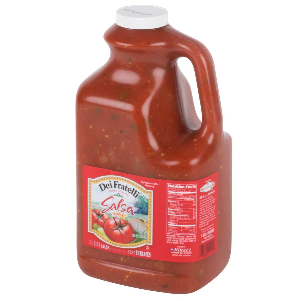 Dei Fratelli Medium Salsa 1 Gallon Jug - 4/Case By TableTop King by TableTop King (Image #1)