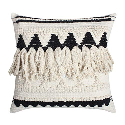 ThymeHome Nirvana Fringe Cyber Week Special Cotton Hand Woven Pillow-100% Cotton Decorative Accent Pillow of ()