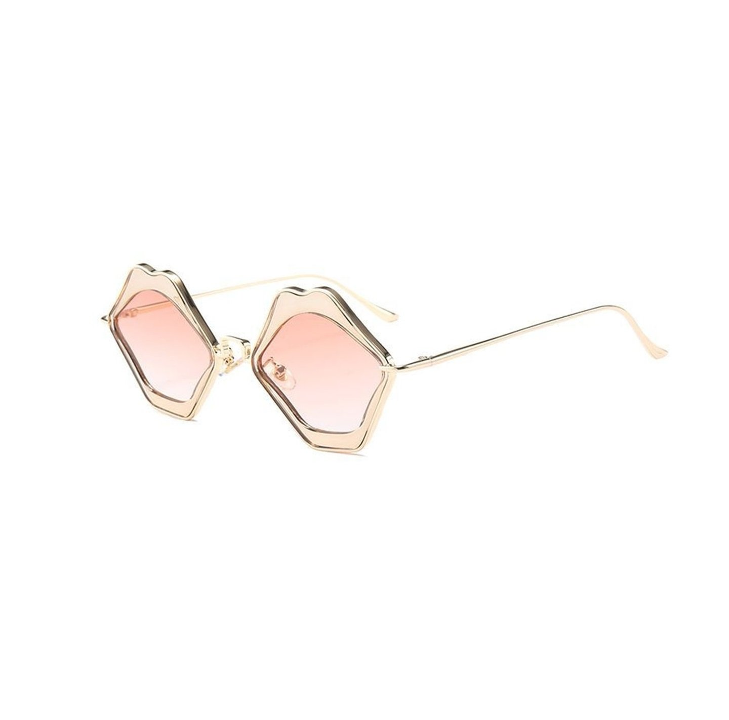 Funky Retro Pink Love Lip Shape Kiss Frame Party Shades Sunglasses For Women Or Girls