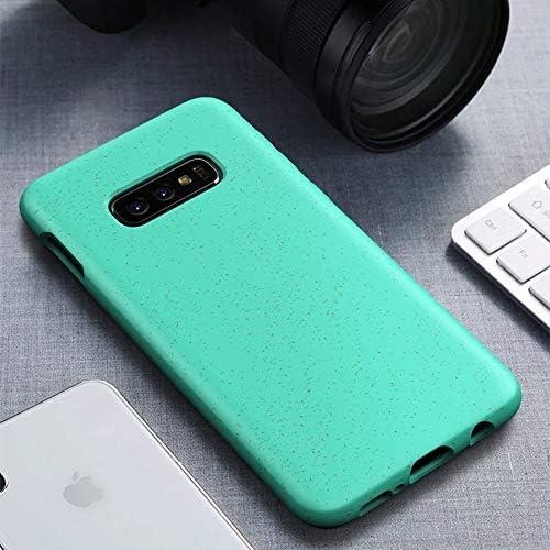 あなたの携帯電話を保護する Galaxy S10e用Starryシリーズ耐衝撃性ストロー素材+ TPU保護ケース (色 : 緑)