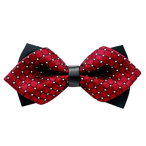 Squares Fancy Wedding Bands - Clearence Tie Fashion Wedding Party Feast Fancy Adjustable Bowtie Necktie Bow Tie