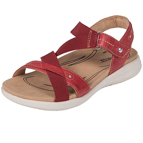 Earth Shoes Bali Bright Red Soft Leather