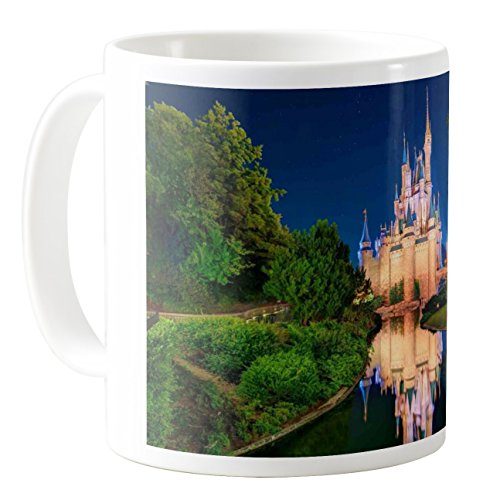 AquaSakura - Disneyland Cinderellas Castle Orlando - 11oz Ceramic Coffee Mug Tea Cup