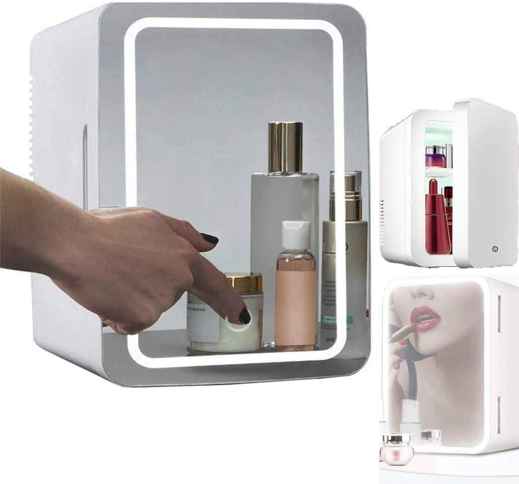 YUTGMasst Mini Nevera 8 litros cosmética Frigorífico 2-en-1 de ...