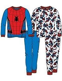 Boys Spiderman Spider-man Pajamas, 2 pk 4 pc Set (8)