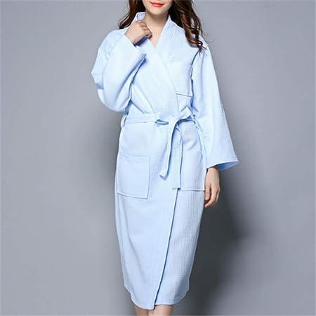 Camisones De Mujeres Night Clothes Kimonos Bata De Baño para La Novia Vestido,Albornoz de algodón para Pareja A-2 L: Amazon.es: Hogar