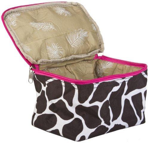 Pink Giraffe Print Cosmetic Makeup Case