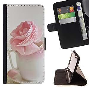 King Case - FOR Samsung Galaxy S3 MINI 8190 - Smile when awake - Prima caja de la PU billetera de cuero con ranuras para tarjetas, efectivo Compartimiento desmontable y correa para la mu?eca