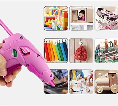 Xing zhe 子どもDIYクラフト、クリスマスデコレーション、ピンクのために10本のスティックのりとアンチ火傷セット、とのワイヤレスホットグルーガン、リチウム電池用USB充電式ミニグルーガン、 贈り物 (Color : B)