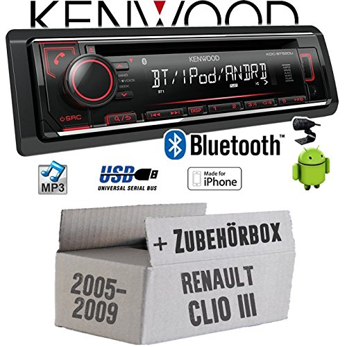 Renault Clio 3 - Autoradio Radio Kenwood KDC-BT520U - Bluetooth CD/MP3/USB - Einbauzubehö r - Einbauset JUST SOUND best choice for caraudio ReCl3_KDC-BT520U