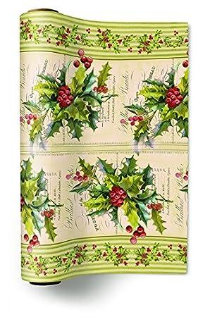 Camino de mesa (TL Christmas Holly) Acebo Navidad Invierno Nieve Animales Bosque Muñeco de nieve Merry Christmas: Amazon.es: Hogar