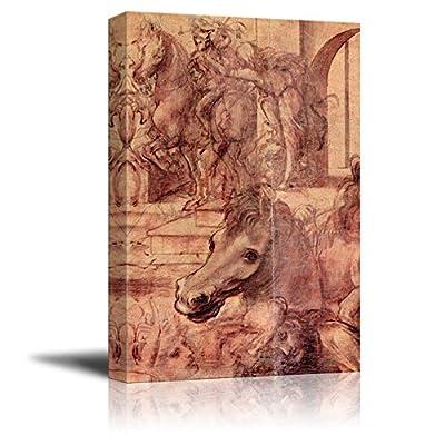 Adoration of The Magi by Leonardo da Vinci...