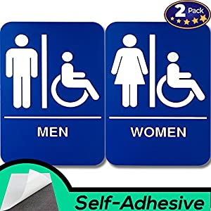ADA Restroom Braille Signs