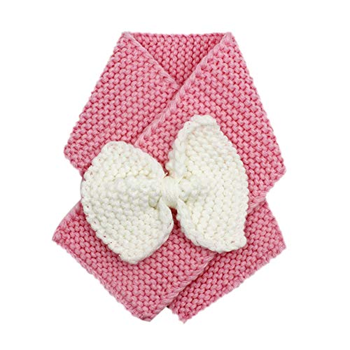 Kids Toddler Winter Warm Knit Scarves Cute Bowknot Solid Color Cable Loop Scarf - Cable Easy Scarf