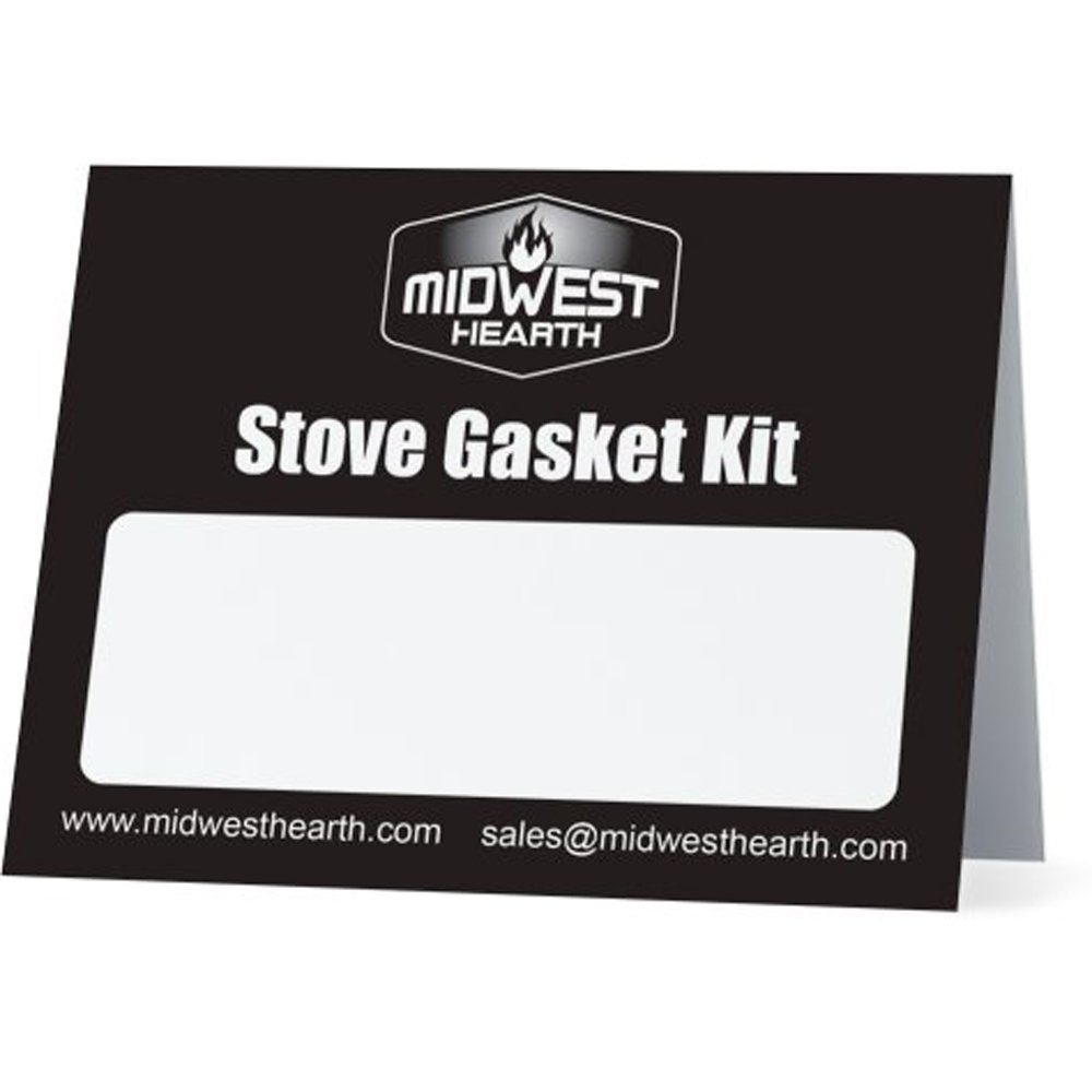 Midwest Hearth Wood Stove Replacement Gasket Kit for Woodburning Stoves - Graphite Impregnated Fiberglass Gaskets and Adhesive (5/8'' x 84'' Rope) by Midwest Hearth (Image #2)