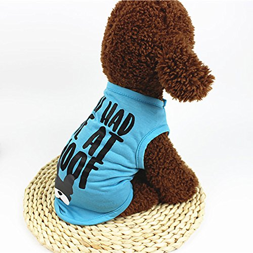 Glumes Pet Clothes, Puppy You Had Me at Woof Cute T-Shirt Dog Cold Weather Coat Warm Letter Printed Vest for Small Dog Medium Dog Or Cat]()