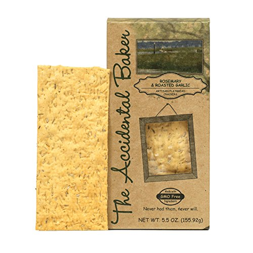 THE ACCIDENTAL BAKER Rstd Garlic & Rosemary Artisan Flatbread Crackers, 5.25 OZ ()
